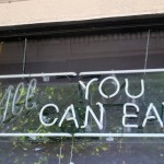 All you can eat sign